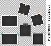 collection of vector blank... | Shutterstock .eps vector #618627824