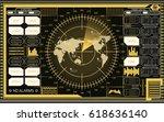 abstract digital radar screen...   Shutterstock .eps vector #618636140