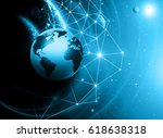best internet concept of global ... | Shutterstock . vector #618638318