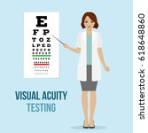 eye vision test at an... | Shutterstock .eps vector #618648860