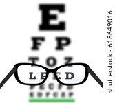 eye vision test  poor eyesight... | Shutterstock .eps vector #618649016