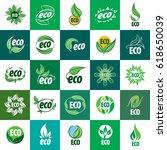 template icon design eco.... | Shutterstock .eps vector #618650039