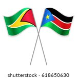 guyanese and south sudanese... | Shutterstock .eps vector #618650630
