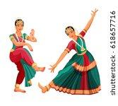 woman dancer in national indian ... | Shutterstock .eps vector #618657716