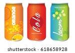 set of refreshing soda drinks...   Shutterstock .eps vector #618658928