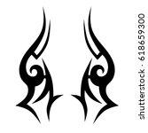 tattoo sketch tribal vector...   Shutterstock .eps vector #618659300