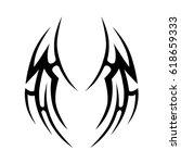 tattoo sketch tribal vector... | Shutterstock .eps vector #618659333