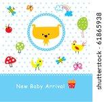 merry baby puppy arrival | Shutterstock .eps vector #61865938