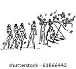 Chorus Line   Retro Clip Art