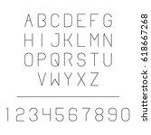 geometric thin line font. latin ... | Shutterstock .eps vector #618667268