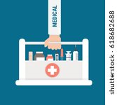 medical flat design. | Shutterstock .eps vector #618682688