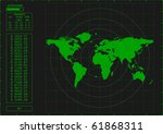 green radar screen  vector | Shutterstock .eps vector #61868311