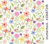 summer flower wallpaper... | Shutterstock .eps vector #618687248