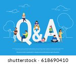 question and answer concept... | Shutterstock . vector #618690410