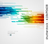 abstract technology bright... | Shutterstock .eps vector #618690608
