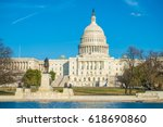 the united states capitol  aka  ... | Shutterstock . vector #618690860