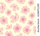 seamless tropical pattern with... | Shutterstock .eps vector #618691100