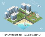 set of isolated high quality... | Shutterstock .eps vector #618692840