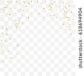 many falling golden tiny... | Shutterstock .eps vector #618694904