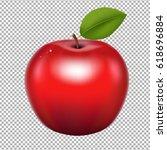 red apple  | Shutterstock . vector #618696884