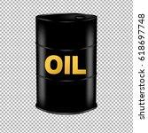 oil barrel  | Shutterstock . vector #618697748