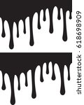 pair of black paint drips.... | Shutterstock .eps vector #618698909