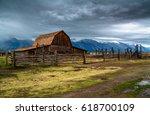 moulton barn grand teton... | Shutterstock . vector #618700109