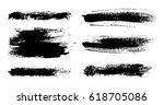 grunge brush strokes collection.... | Shutterstock .eps vector #618705086