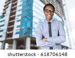 happy smart business man | Shutterstock . vector #618706148