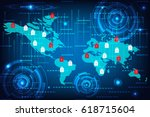 abstract technology concept... | Shutterstock .eps vector #618715604
