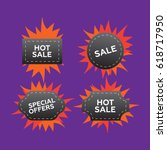 hot price and sale  deal and...   Shutterstock . vector #618717950