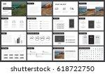 minimal black and white... | Shutterstock .eps vector #618722750