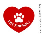 pets allowed  pet friendly red... | Shutterstock .eps vector #618731624