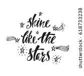 shine like the stars.... | Shutterstock .eps vector #618733238