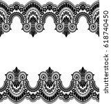 seamless lace pattern  flower...   Shutterstock .eps vector #618740450