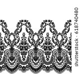 seamless lace pattern  flower... | Shutterstock .eps vector #618740480