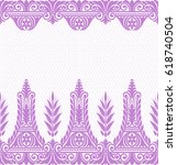 seamless lace pattern  flower...   Shutterstock .eps vector #618740504