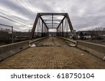 Small photo of A view of the abandoned Leet Street truss bridge in Allegheny County, Pennsylvania.