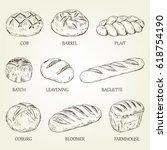 outline set of different kinds... | Shutterstock .eps vector #618754190
