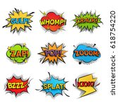 comic funny speech bubbles... | Shutterstock .eps vector #618754220