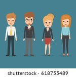 set of business man and... | Shutterstock .eps vector #618755489