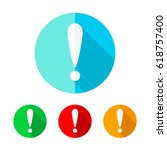 set of colored circles with... | Shutterstock .eps vector #618757400