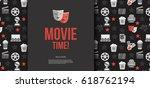 movie ticket template. vector... | Shutterstock .eps vector #618762194