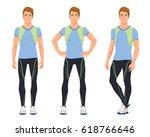 vector illustration of three... | Shutterstock .eps vector #618766646