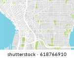 urban city map of seattle  usa | Shutterstock . vector #618766910