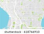 urban city map of seattle  usa | Shutterstock . vector #618766910