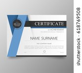 certificate premium template... | Shutterstock .eps vector #618769508