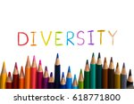 concept of diverse or diversity.... | Shutterstock . vector #618771800