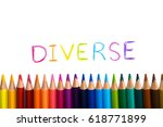 concept of diverse or diversity.... | Shutterstock . vector #618771899