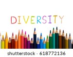 concept of diverse or diversity.... | Shutterstock . vector #618772136